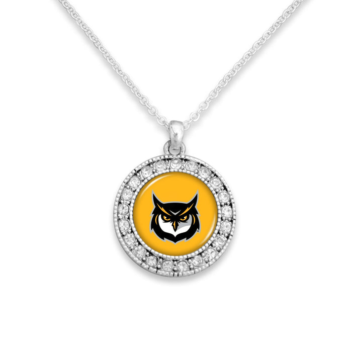 Kennesaw State Owls Kenzie Round Crystal Charm Necklace