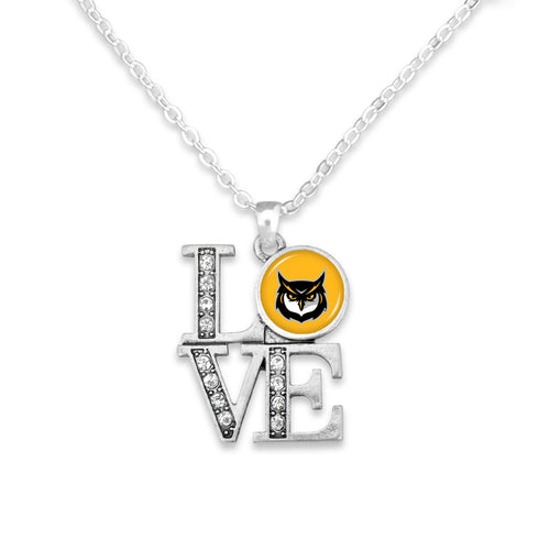 Kennesaw State Owls LOVE Necklace