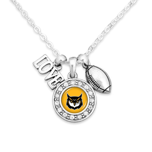 Kennesaw State Owls Football, Love and Logo Necklace