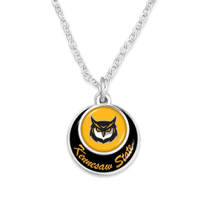 Kennesaw State Owls Stacked Disk Necklace