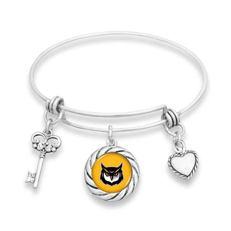 Kennesaw State Owls Twisted Rope Bracelet