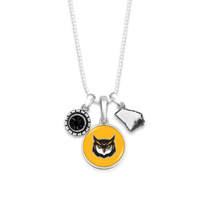 Kennesaw State Owls Home Sweet School Necklace