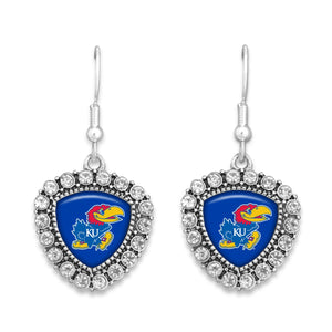 Kansas Jayhawks Brooke Crystal Earrings