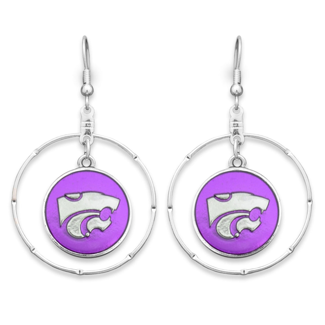 Kansas State Wildcats Campus Chic Earrings