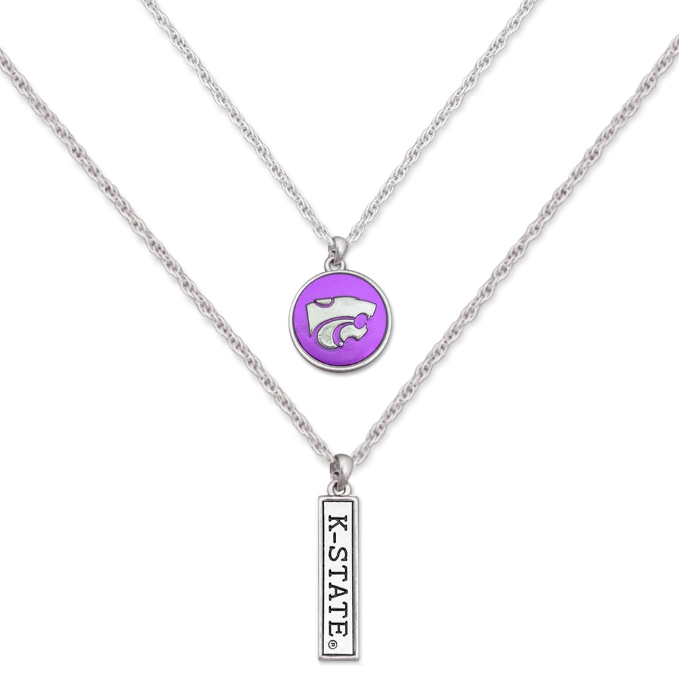 Kansas State Wildcats Double Down Necklace