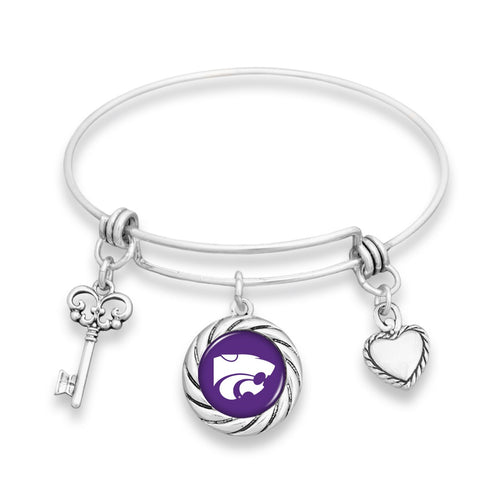 Kansas State Wildcats Twisted Rope Bracelet