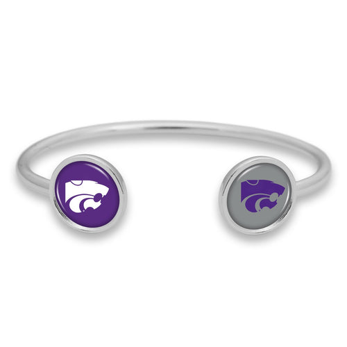 Kansas State Wildcats Duo Dome Cuff Bracelet