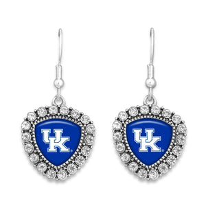 Kentucky Wildcats Brooke Crystal Earrings