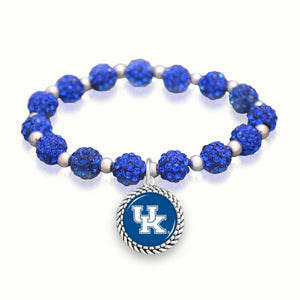 Kentucky Wildcats Team Color Sparkle Stretchy Bracelet