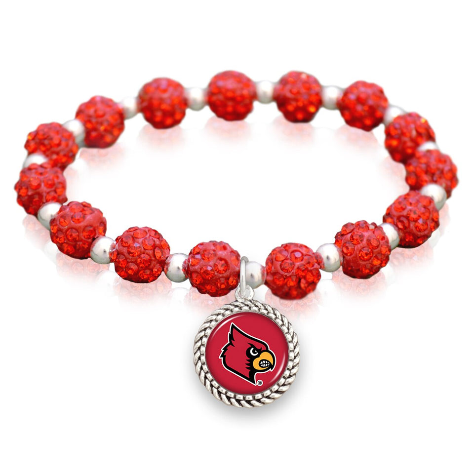 Louisville Cardinals Team Color Sparkle Stretchy Bracelet