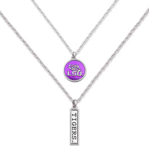 LSU Tigers Double Down Necklace