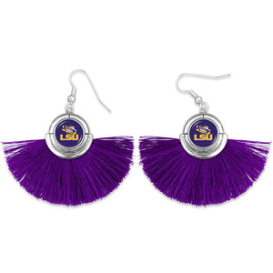 LSU Tigers Tassel Earrings