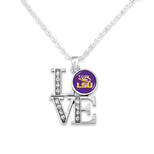 LSU Tigers LOVE Necklace