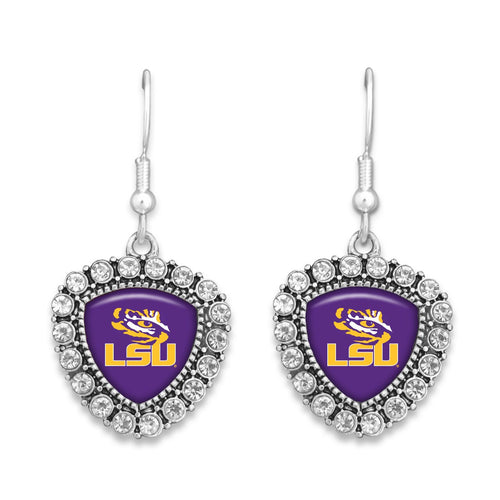 LSU Tigers Brooke Crystal Earrings