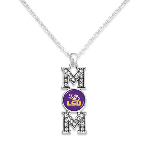 LSU Tigers MOM Necklace