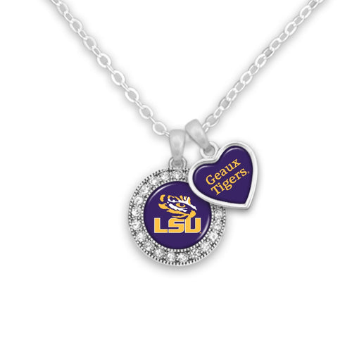 LSU Tigers Spirit Slogan Necklace