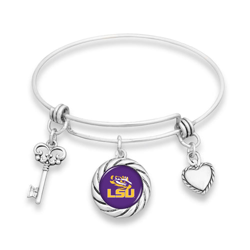 LSU Tigers Twisted Rope Bracelet