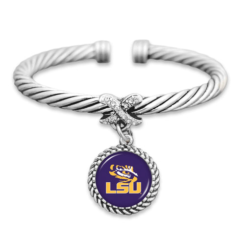 LSU Tigers Bangle Cuff Bracelet