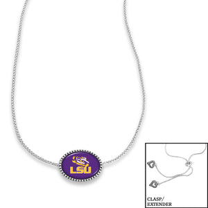 LSU Tigers Adjustable Slider Bead Necklace