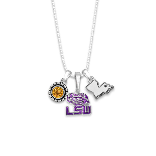 LSU Tigers Home Sweet School Necklace