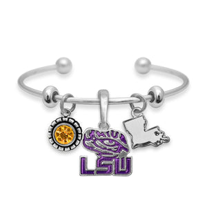 LSU Tigers Home Sweet School Bracelet