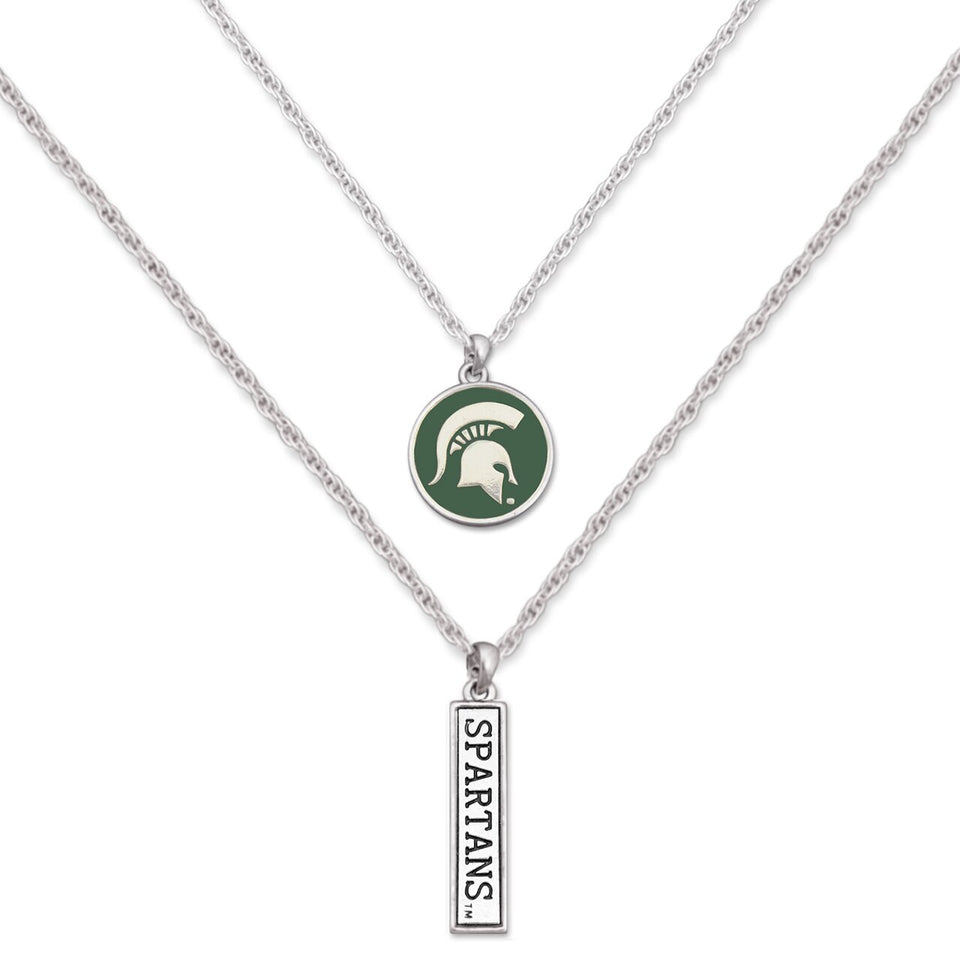 Michigan State Spartans Double Down Necklace