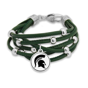 Michigan State Spartans Lindy Bracelet