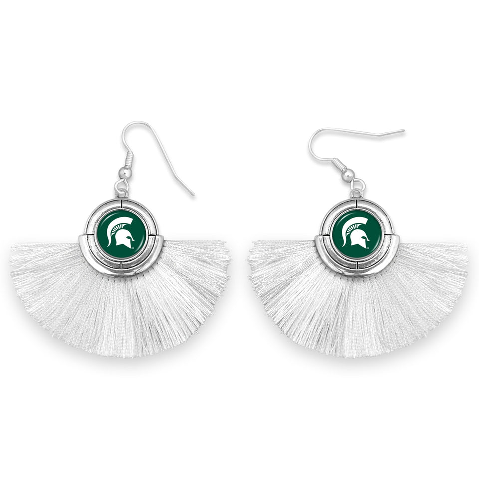 Michigan State Spartans Tassel Earrings