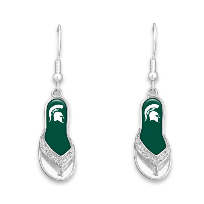 Michigan State Spartans Flip Flop Earrings