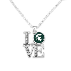 Michigan State Spartans LOVE Necklace