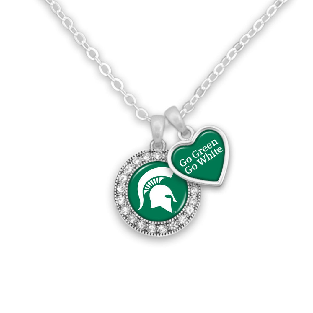 Michigan State Spartans Spirit Slogan Necklace
