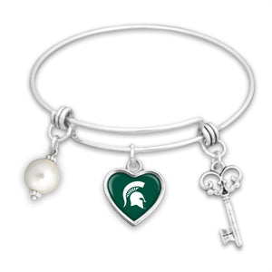 Michigan State Spartans Pearl Bracelet