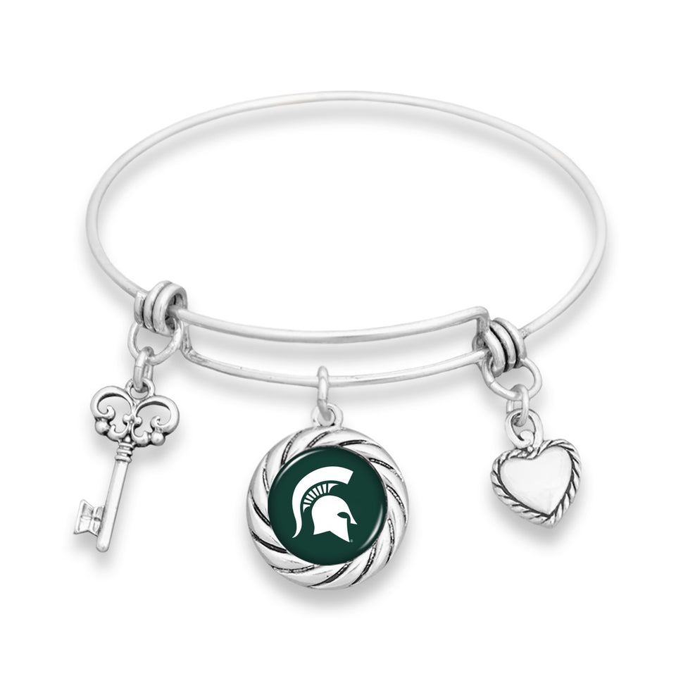Michigan State Spartans Twisted Rope Bracelet