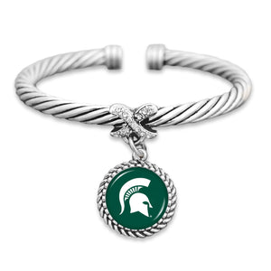 Michigan State Spartans Bangle Cuff Bracelet