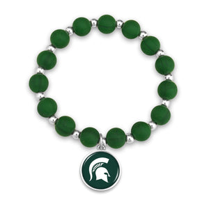 Michigan State Spartans Leah Bracelet