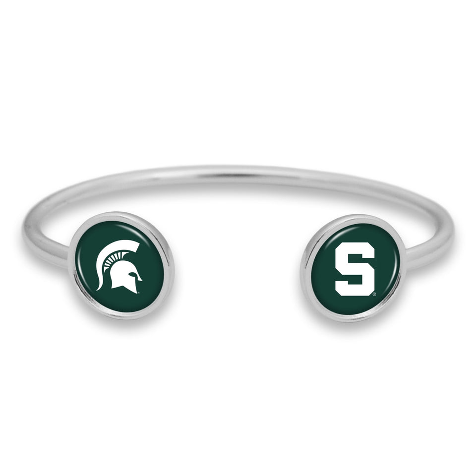 Michigan State Spartans Duo Dome Cuff Bracelet