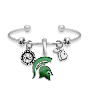 Michigan State Spartans Home Sweet School Bracelet