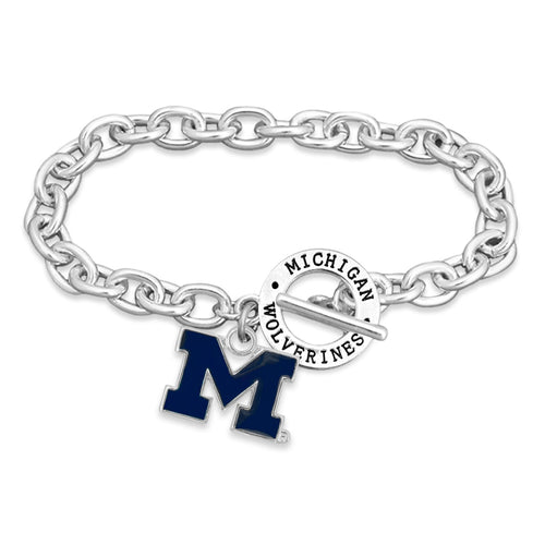 Michigan Wolverines Bracelet- Audrey Toggle