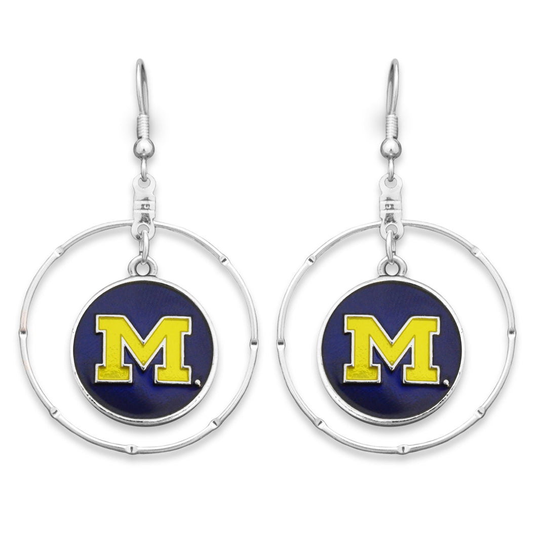 Michigan Wolverines Campus Chic Earrings