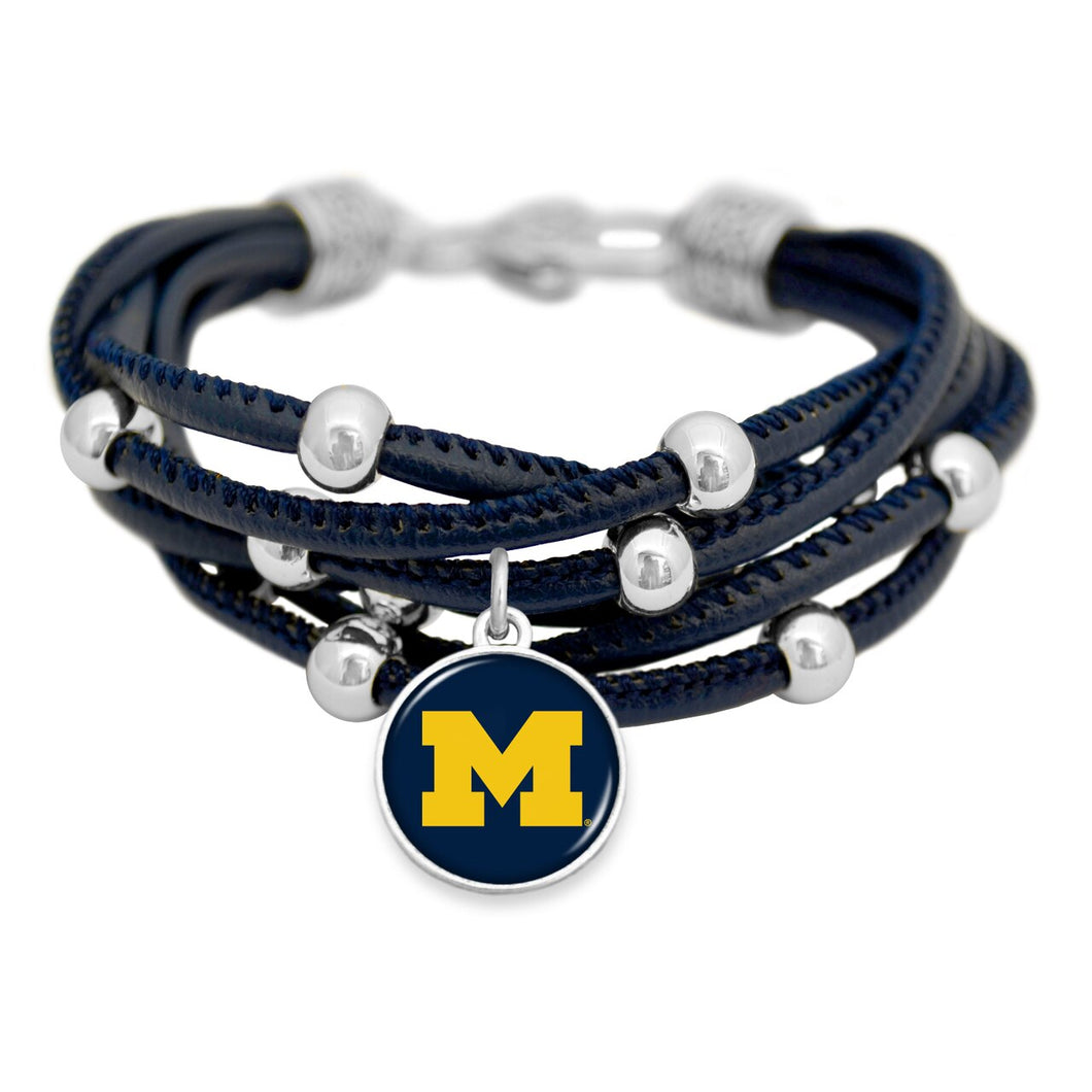 Michigan Wolverines Lindy Bracelet