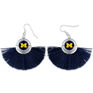 Michigan Wolverines Tassel Earrings