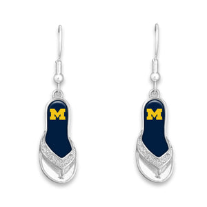 Michigan Wolverines Flip Flop Earrings