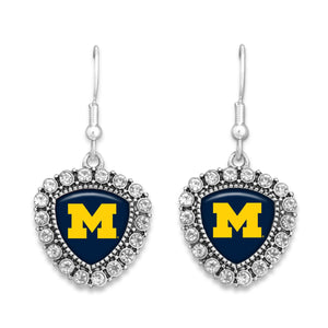Michigan Wolverines Brooke Crystal Earrings
