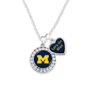 Michigan Wolverines Spirit Slogan Necklace