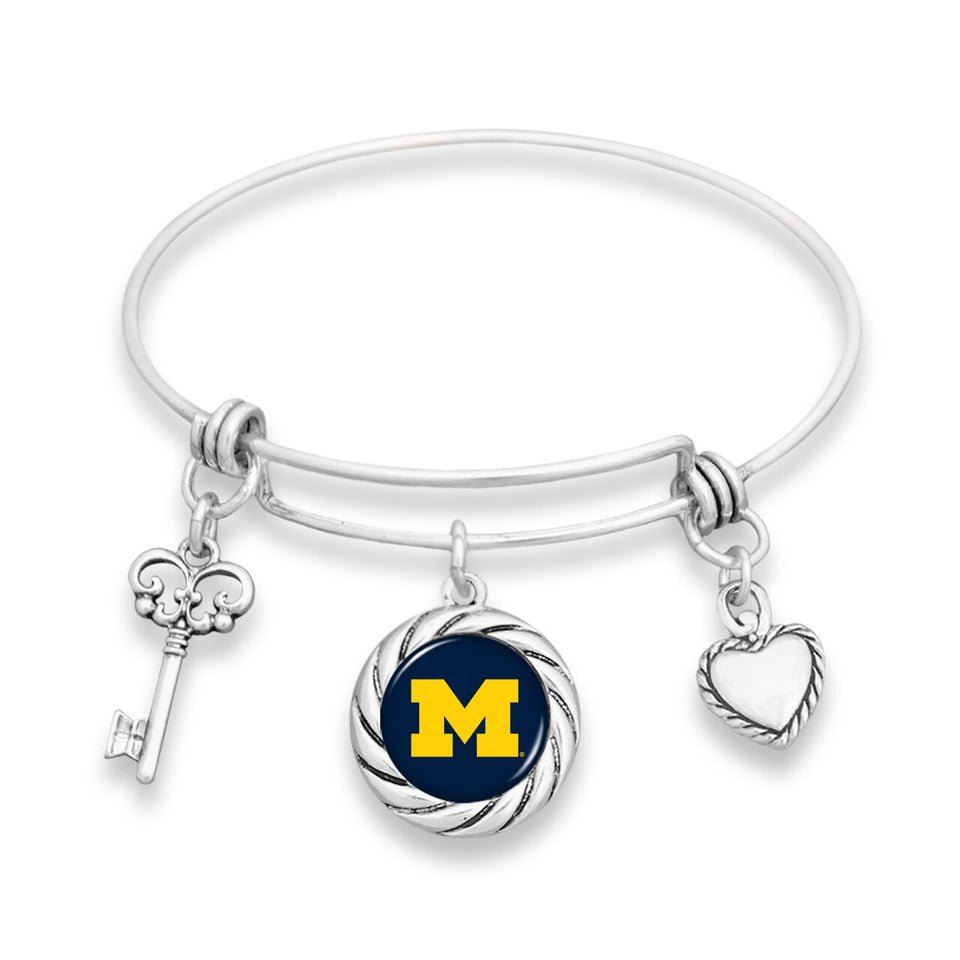 Michigan Wolverines Twisted Rope Bracelet