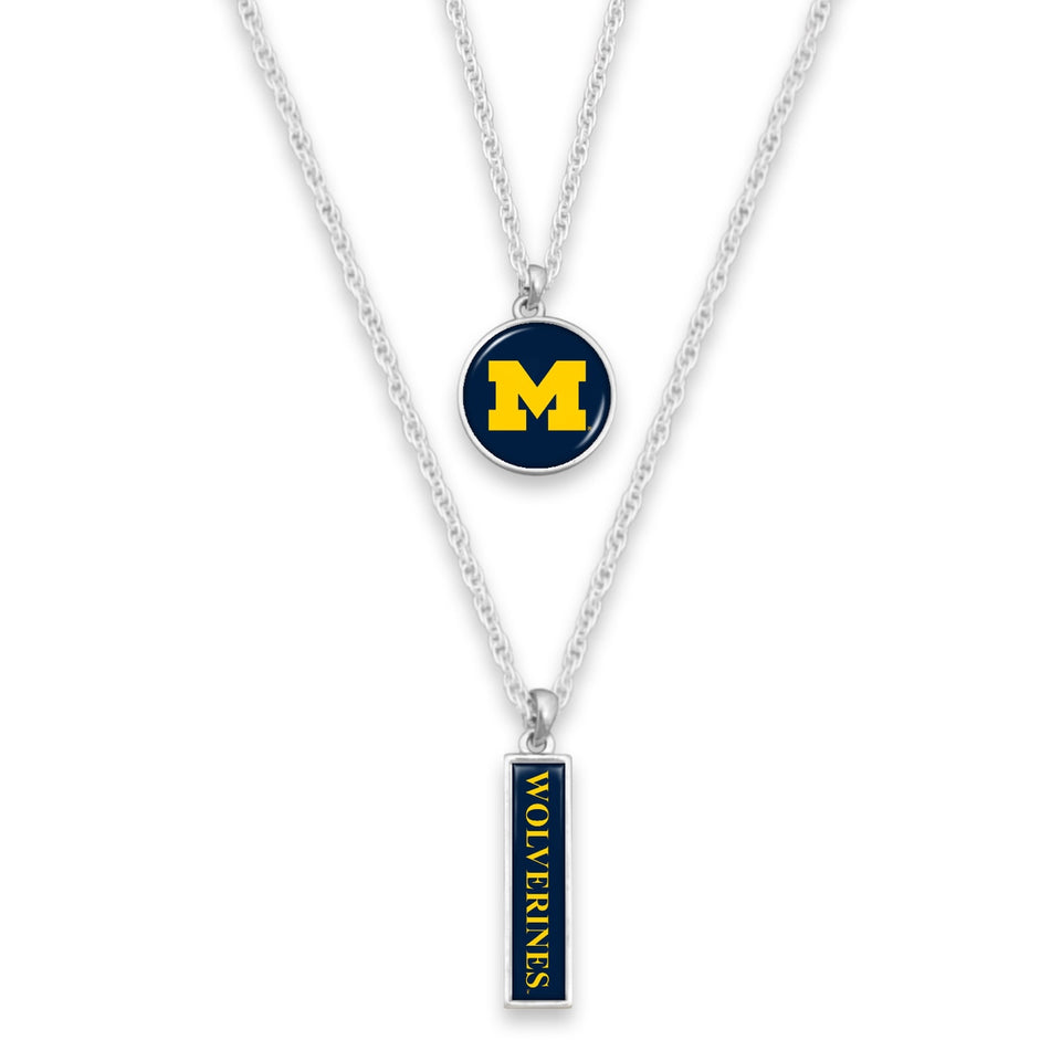 Michigan Wolverines Double Layer Necklace