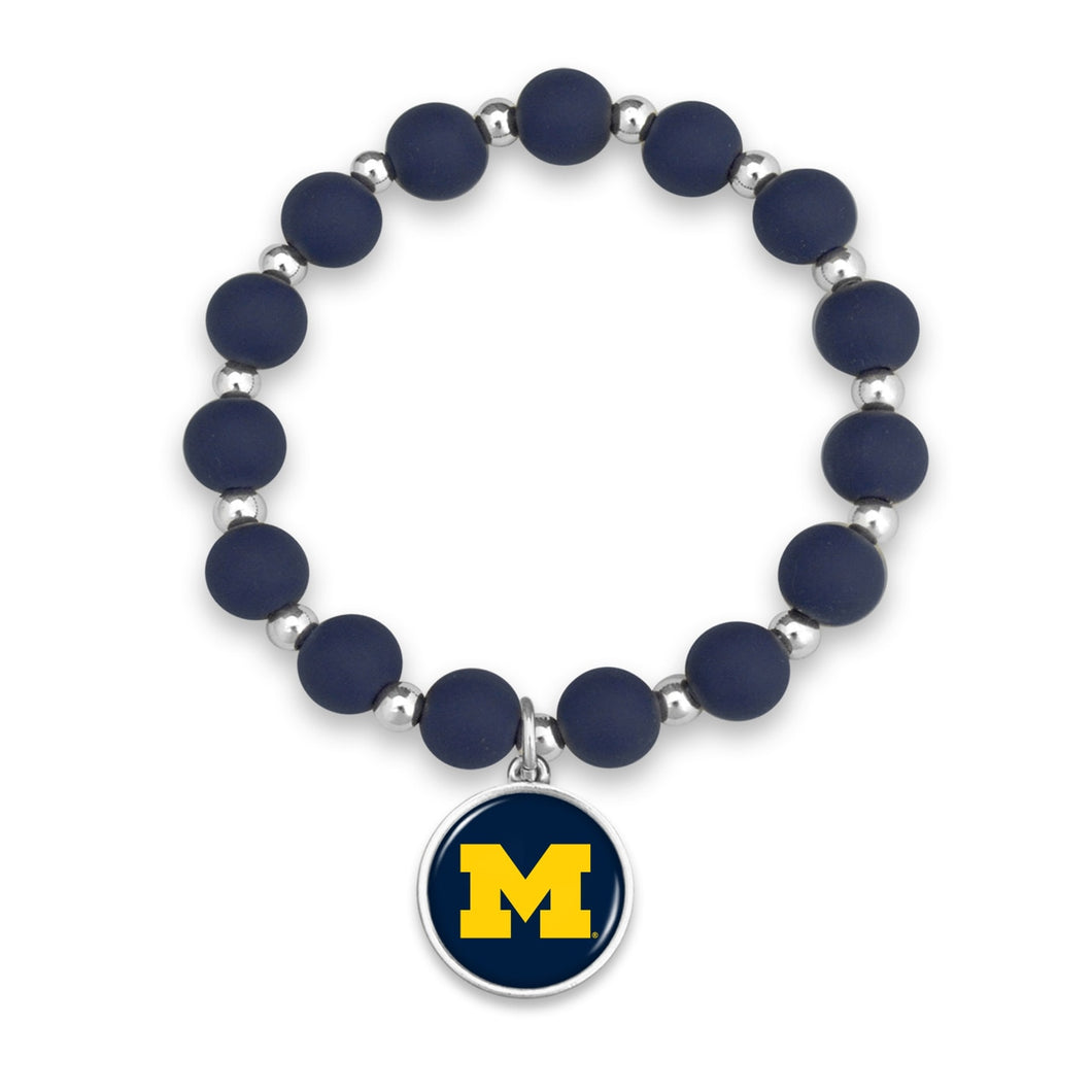 Michigan Wolverines Leah Bracelet