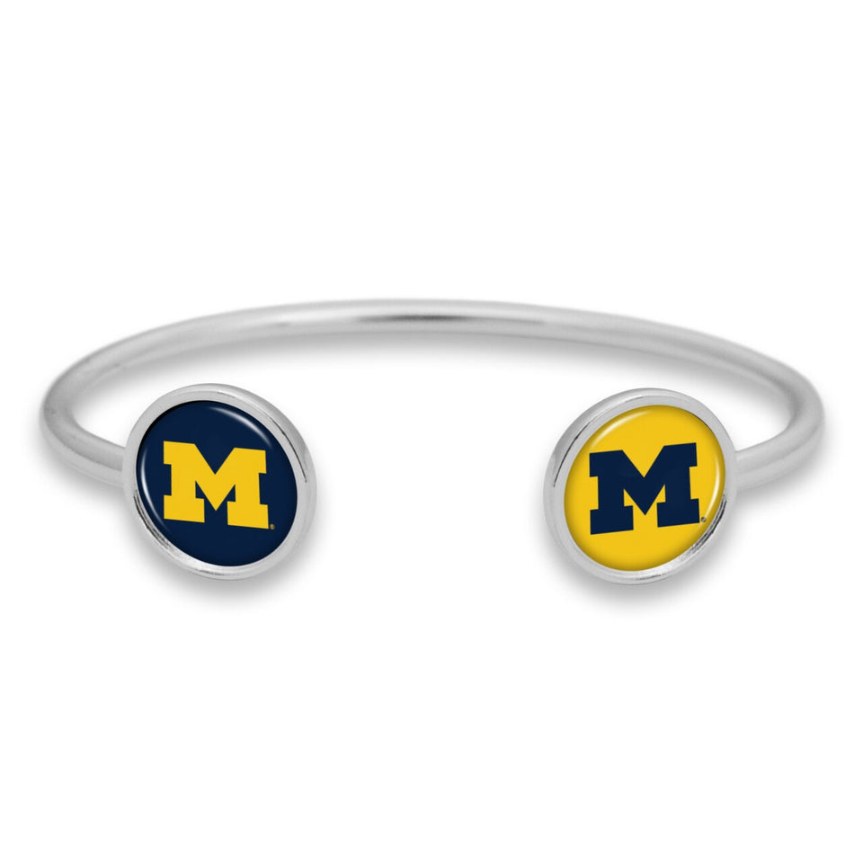 Michigan Wolverines Duo Dome Cuff Bracelet