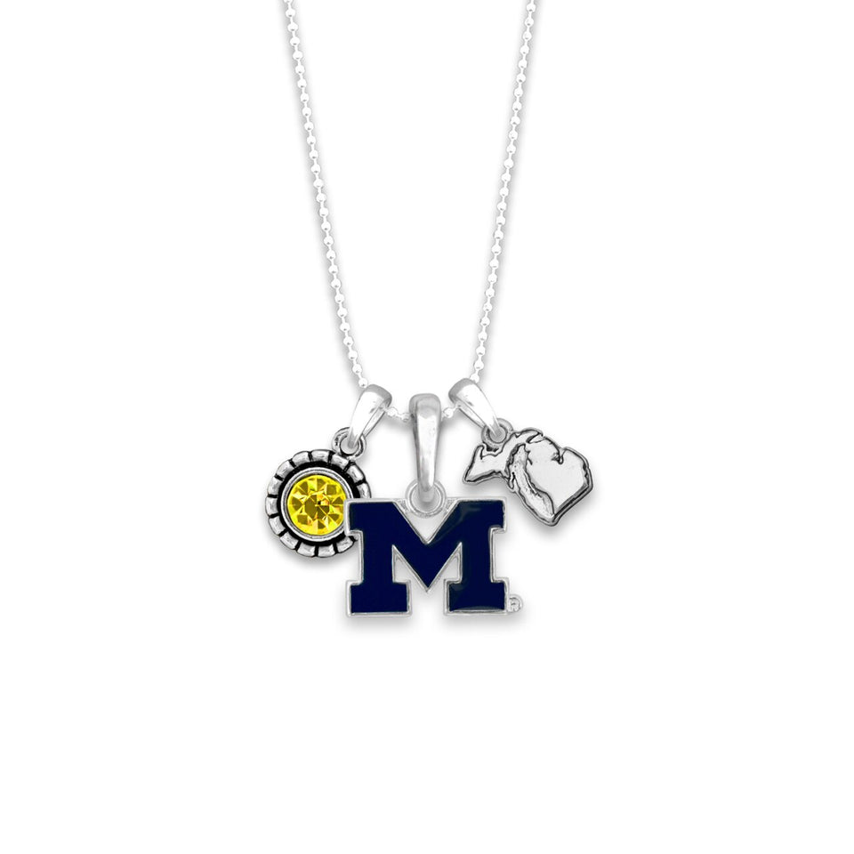 Michigan Wolverines Home Sweet School Necklace