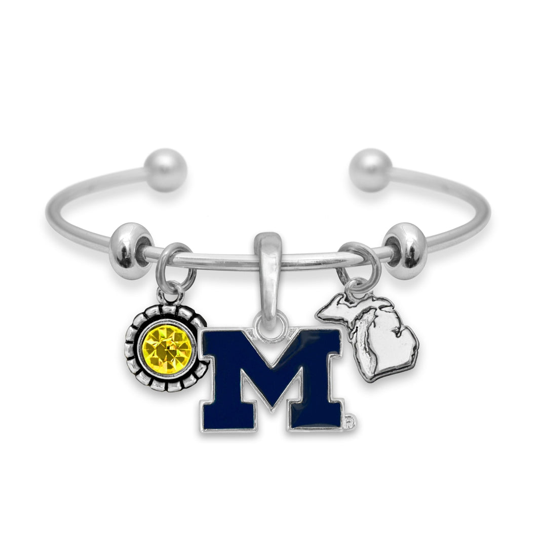 Michigan Wolverines Home Sweet School Bracelet